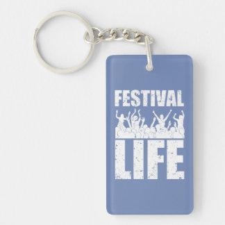 Neues FESTIVAL-LEBEN (weiß) Schlüsselanhänger