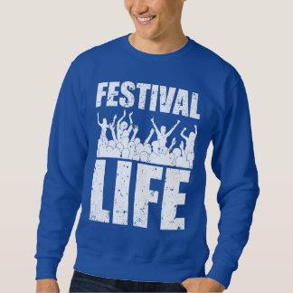 Neues FESTIVAL-LEBEN (weiß) Sweatshirt