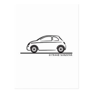 Neues Fiat 500 Cinquecento Postkarte