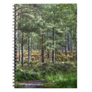 Neues Foto des WaldwaldlandHDR Spiral Notizblock