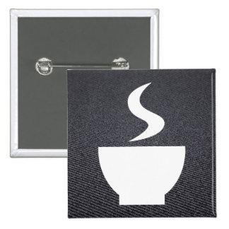 Neues Getränk-Symbol Quadratischer Button 5,1 Cm