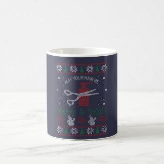 Neues Haar-Stylist-Weihnachten Kaffeetasse