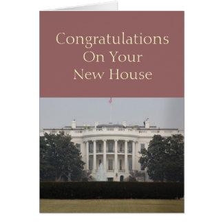 Neues Haus - Glückwünsche auf Ihrem neuen Haus Karte