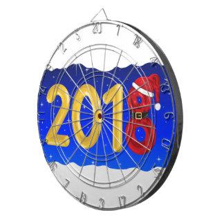 Neues Jahr-Cartoon 2018 Dartscheibe