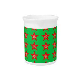 Neues Jahr der Feiertags-Weihnachtsbänder rote Getränke Pitcher