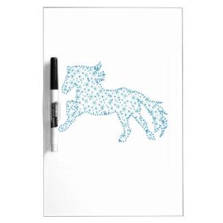 Neues Jahr der Pferdeschneeflocke, weißer Memoboard