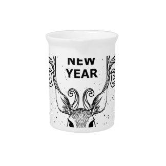 neues Jahr des Feiertags Getränke Pitcher