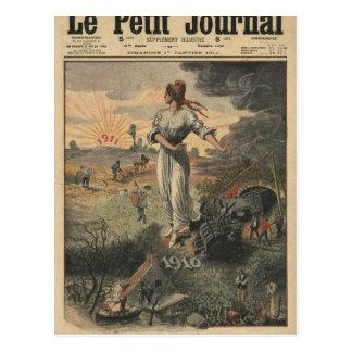 Neues Jahr, Frankreich hofft für bessere Tage Postkarte