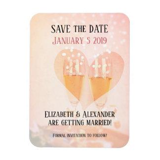 Neues Jahr-neuer Anfang, der Save the Date Magnet