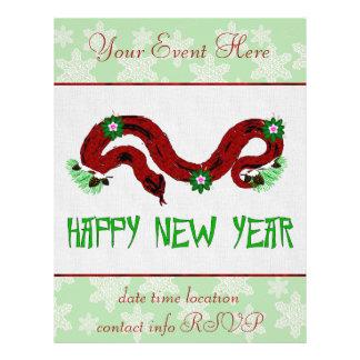 Neues Jahr-Schlange Flyerdesign