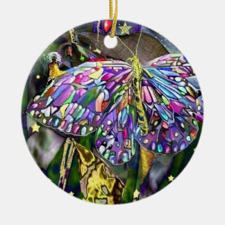Neues Jahr-Schmetterling! Keramik Ornament
