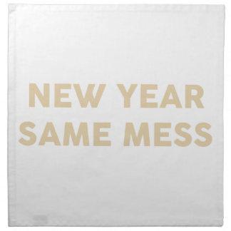 Neues Jahr verwirren selben Serviette