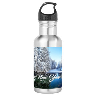 Neues Jahr-Wasser-Flasche Edelstahlflasche