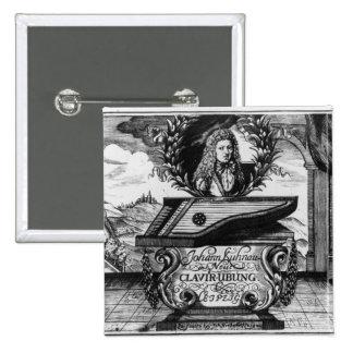 Neues Klavier üben, 1689 Quadratischer Button 5,1 Cm