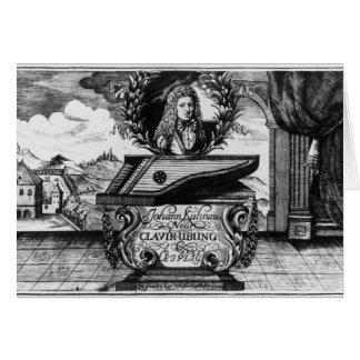 Neues Klavier üben, 1689 Grußkarte