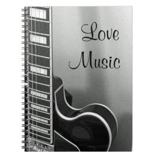 NEUES kundengerechtes Liebe-Musik-Notizbuch Notizblock