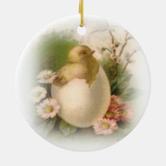 Neues Ostern-Küken Keramik Ornament