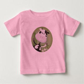 Neues stilvolles Baby Kuh-T-Shirt/Rosa Baby T-shirt