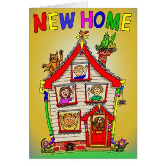 Neues Zuhause-Cartoon-Haus Karte