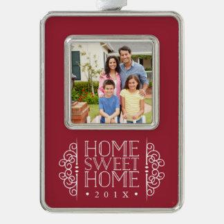 Neues Zuhause für das Feiertags-Foto Rahmen-Ornament Silber