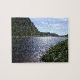 "Neufundland - ""Bach in den Berg"" Puzzlespiel Puzzle"