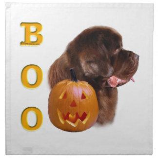 Neufundland Brown Halloween BOO Serviette
