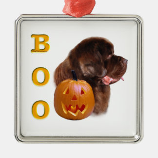 Neufundland Brown Halloween BOO Silbernes Ornament