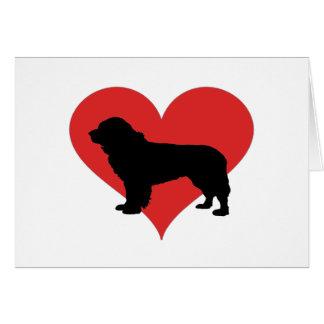 Neufundland mit einem großen roten Herzen Grußkarte