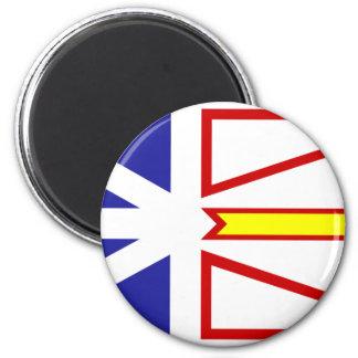 NeufundlandFlagge #2 Runder Magnet 5,1 Cm