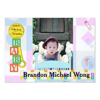 Neugeborene Geburts-Mitteilung und/oder Party 12,7 X 17,8 Cm Einladungskarte