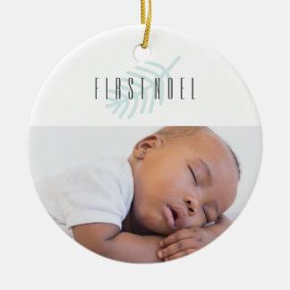 Neugeborene Verzierung des ersten Weihnachtens Keramik Ornament