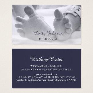 Neugeborener Baby-Fuß-Krankenhaus-BandBirthing Visitenkarte