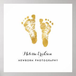 Neugeborener Fotograf-elegante Imitat-Goldabdrücke Poster