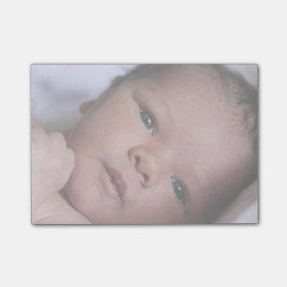 Neugeborenes Baby-Foto-Geschenk-personalisierte Post-it Klebezettel