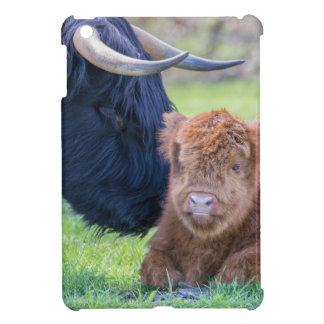 Neugeborenes schottisches Hochländerkalb mit iPad Mini Hülle