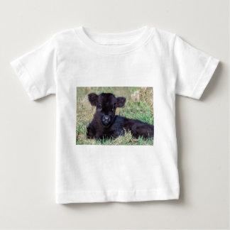 Neugeborenes schwarzes schottisches baby t-shirt