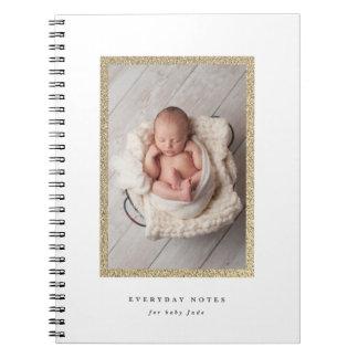 Neugeborenes tägliches Notizbuch des Spiral Notizblock