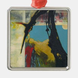 Neugier der abstrakte Drache Silbernes Ornament