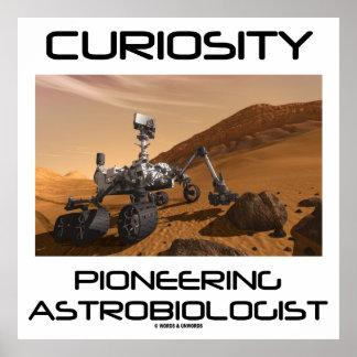 Neugier, die mit Astrobiologist (Mars-, vorangeht Poster