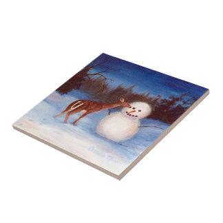 Neugier-Weihnachtsfliese Keramikfliese