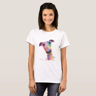 "Neugierige HundWhippet Windhund ""KNÄUEL"" T - T-Shirt"