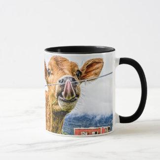 Neugierige Kalb-Tasse Tasse