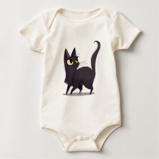 Neugierige Katze Baby Strampler