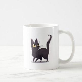 Neugierige Katze Kaffeetasse