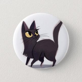 Neugierige Katze Runder Button 5,7 Cm