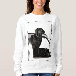 Neugierige schwarze Labradore - Sweatshirt
