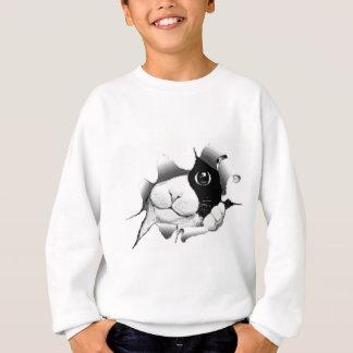 Neugierige Schwarzweiss-Miezekatze-Katze Sweatshirt
