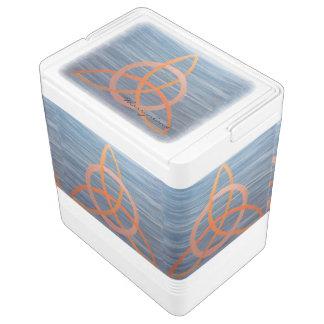 Neugieriger keltischer Dreiheits-Knoten Triquetra Kühlbox