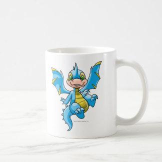 Neugieriges blaues Scorchio Kaffeetasse
