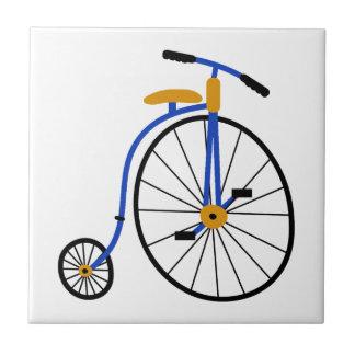Neuheits-altmodisches Fahrrad-Blau Fliese